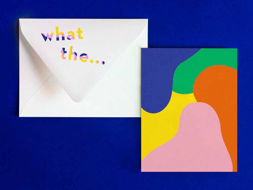 What The... Notevelope, funny congrats card. Blank pattern card with printed envelope • Notevelopes: The Note is on the Envelope by @mydarlin_bk