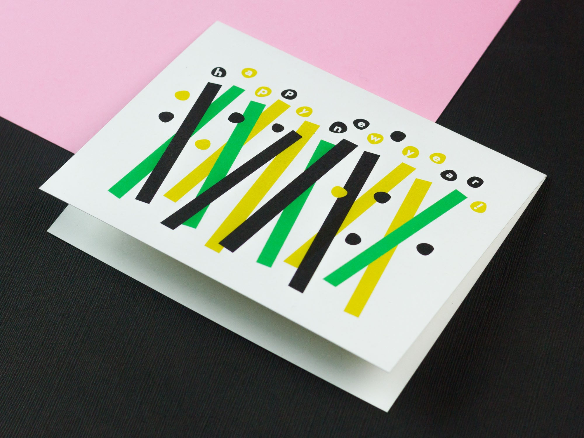 Happy New Year abstract confetti new year card. Made in USA by My Darlin' @mydarlin_bk