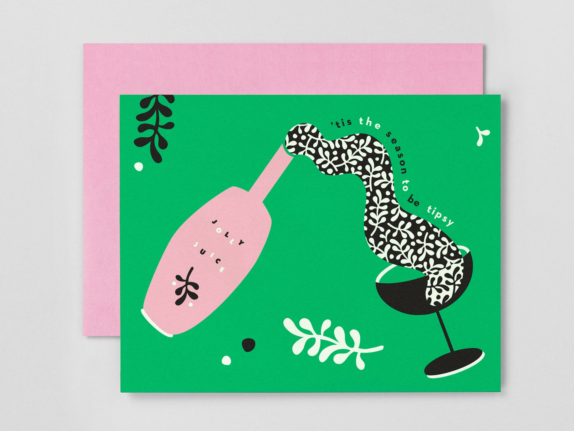 'Tis the Season to Be Tipsy Holiday Card, collaboration between Etsy and Match.com. Designed by @mydarlin_bk
