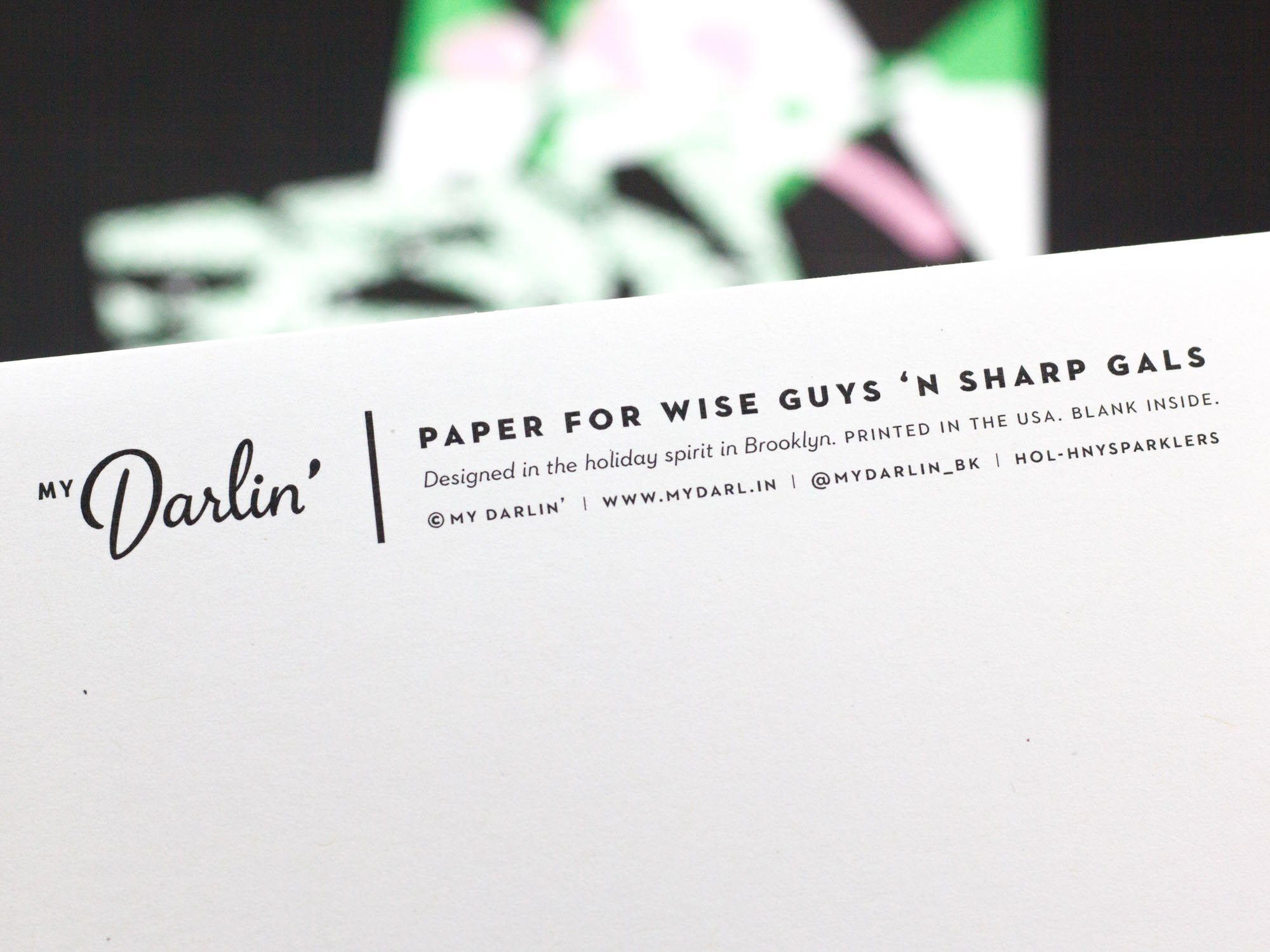 Secret messages on the back of My Darlin' holiday cards. Designed in the holiday spirit by @mydarlin_bk