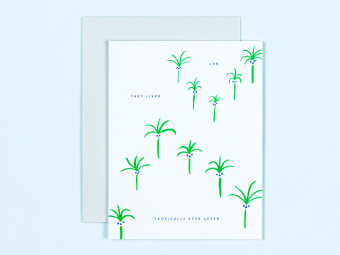 Tropically Ever After Floating Palm Trees
