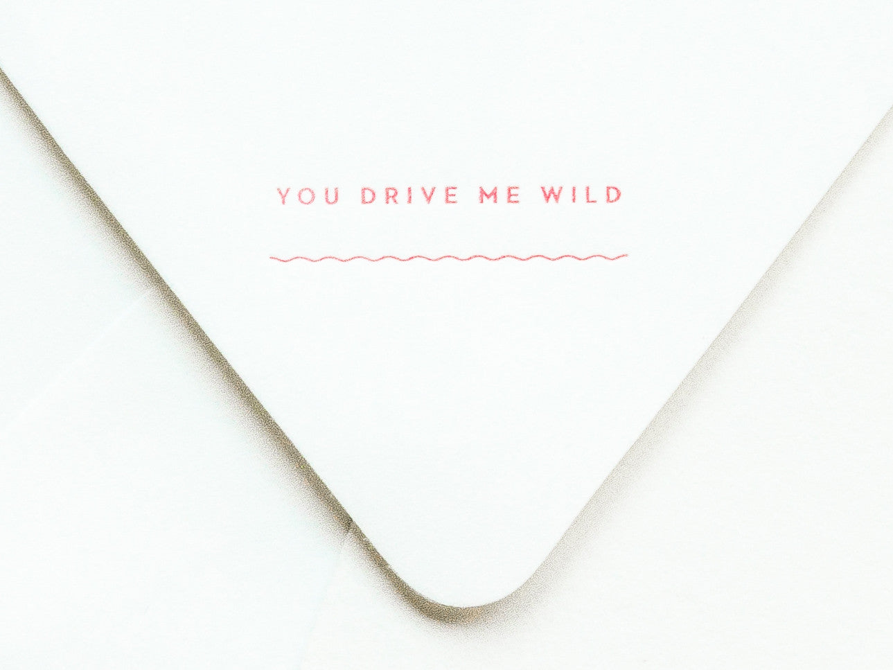 You Drive Me Wild Notevelope & Sporty Car Notecard