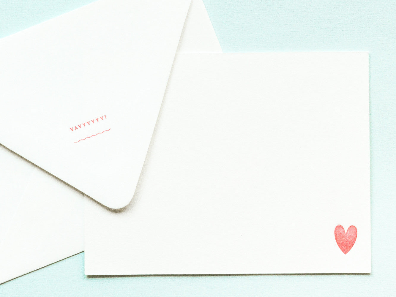 Yayyyyyy! Notevelope & Heart Notecard