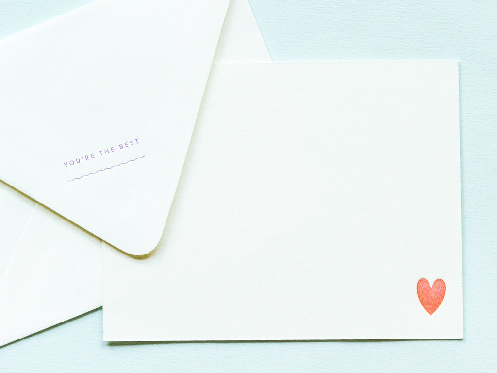You're the Best Notevelope & Heart Notecard