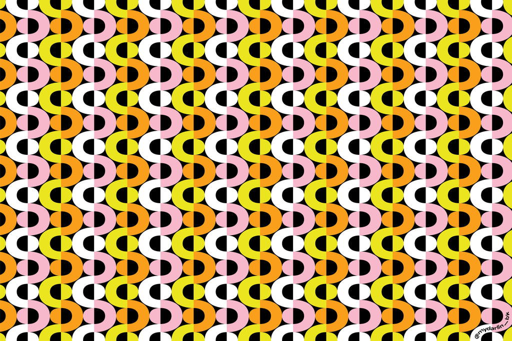"""Goldie"" geometric graphic op-art inspired pattern free downloadable device wallpaper by @mydarlin_bk"