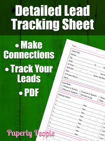 Detailed Lead Sheet - Followup Worksheet