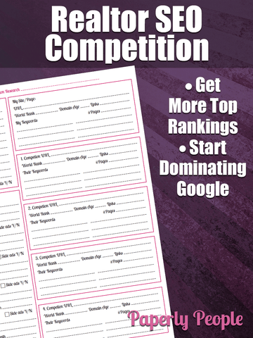 Realtor SEO Worksheet - Competition Research
