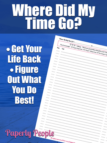 Where Did My Time Go? Time Management Tool