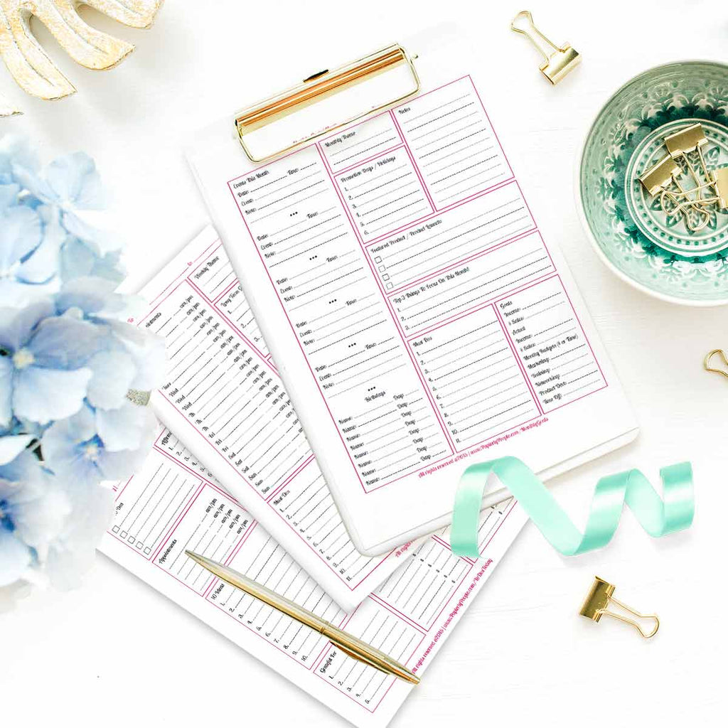 photograph regarding Goals Printable identified as Very little Business office Calendar Package, Take All 3 Printable Planner Internet pages (Objectives  Affirmations)