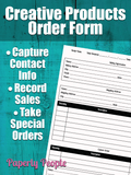 Order Form For Creative Products Companies