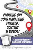 Customer Journey Marketing Worksheet, Small Business Marketing Worksheets