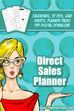 Direct Sales Business Planner for Network Marketing, Party Plan and MLMs