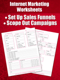 Internet Marketing Worksheets