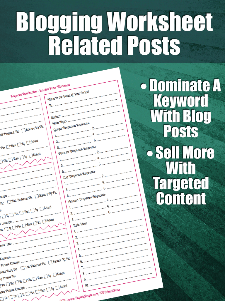 worksheet Keyword Worksheet advanced blogging keyword domination related posts worksheet worksheet