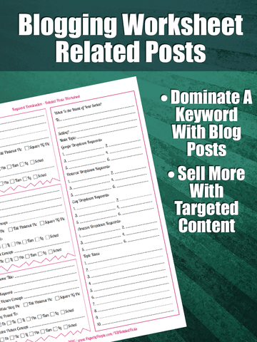 Blogging Worksheet - Keyword Domination | This is an advanced blogging worksheet for site owners who are trying to target a long tail keyword with a series of blog posts.