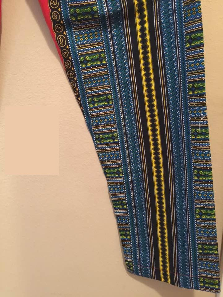 Women's Authentic African Print Combination Pant Set  (One of a kind)