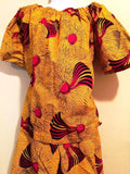 Handmade 100% Cotton African Batik Ankara Print 2pc Short Set