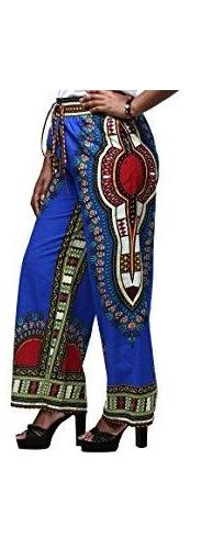 Ladies Blue Dashiki Trousers
