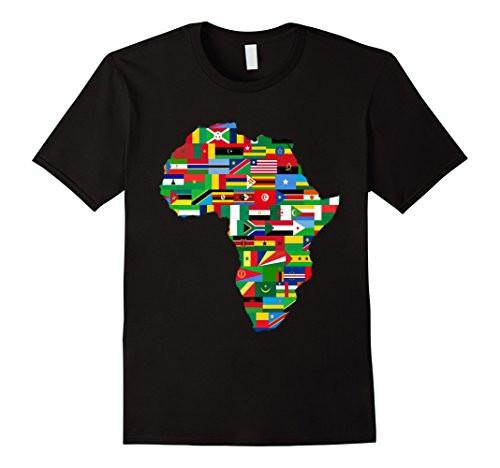 African Country Flags Continent Short Sleeve Tee