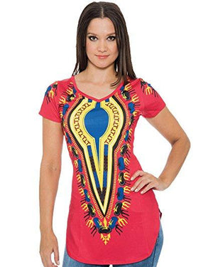 Women's Dashiki Print T-Shirt