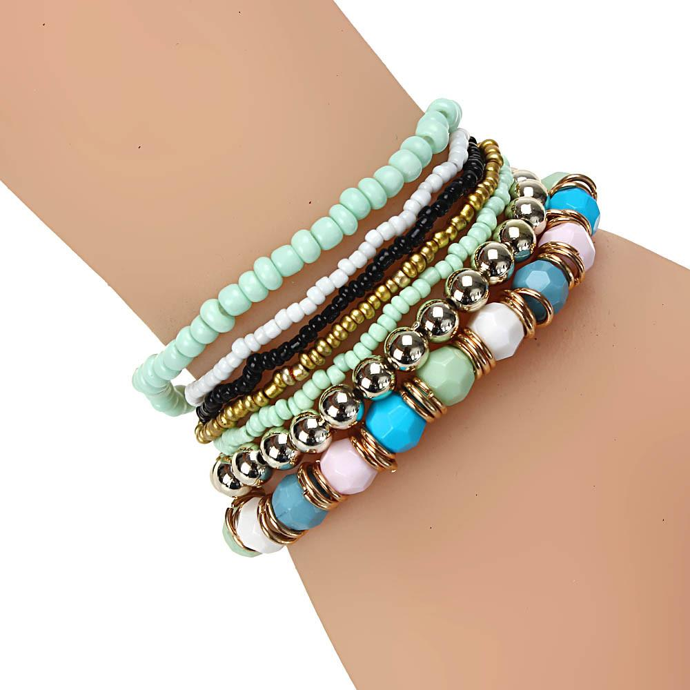 Multilayer Acrylic Beads Bracelets