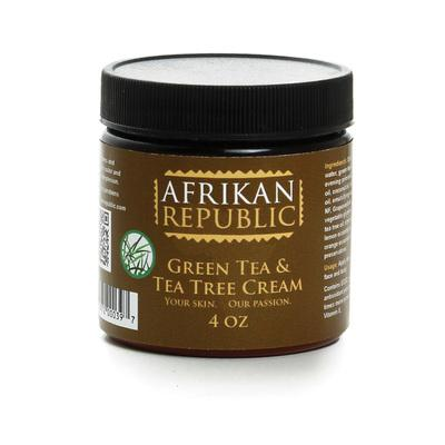 Afrikan Republic Green Tea & Tea Tree Cream 4 oz