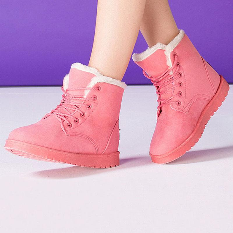 Girls High-top Lace-up Casual Flat Ankle Boots