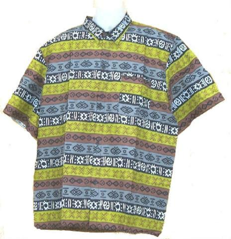 Men's Multi Button Down Print Dashiki - My African Goods & Exotic Scents