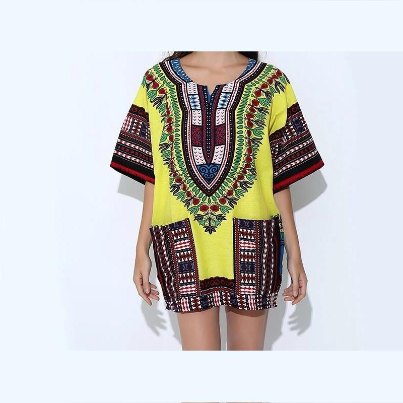 New Yellow Classic Cotton Traditional African Top