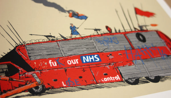 'Brexit Bus' Screen Print