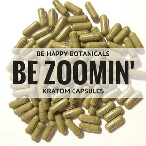 Be Happy Botanicals, Be Zoomin' Capsules [Kratom, Supplements, & Botanicals]