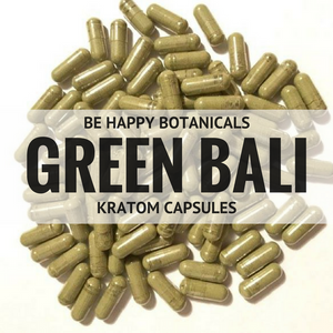 Green Bali Capsules - Kratom - Be Happy Botanicals