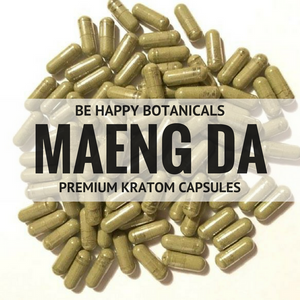 Be Happy Botanicals, Premium Maeng Da Capsules [Kratom, Supplements, & Botanicals]