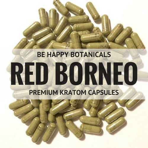 Be Happy Botanicals, Premium Red Borneo Capsules [Kratom, Supplements, & Botanicals]