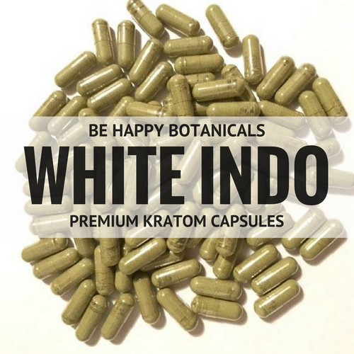 Premium White Indo Capsules - Kratom - Be Happy Botanicals