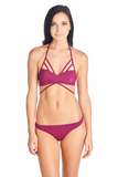 Merlot front view can be paired with our Yasu bottoms for a sexy look