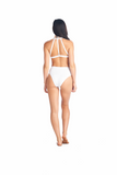 Chic and cheeky Hokona Bottom in white worn with our very own Sora top