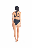 Back view Hokona cheeky high waisted bottom in back compained with our Sora bikini top