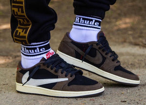 Travis Scott Air Jordan 1 Low release and Sneaker Tees to match