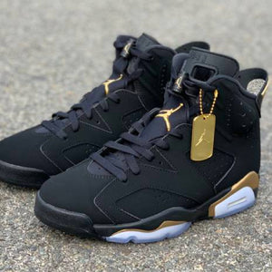 Retro 6 BLACK/GOLD Sneaker Tees to match & release info