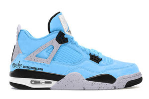 "Air Jordan 4 ""University Blue"" with Splatter Release Date and Sneaker Tees to match"