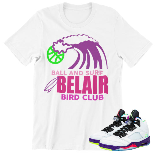 Bel Air Jordan sneaker shirts to match