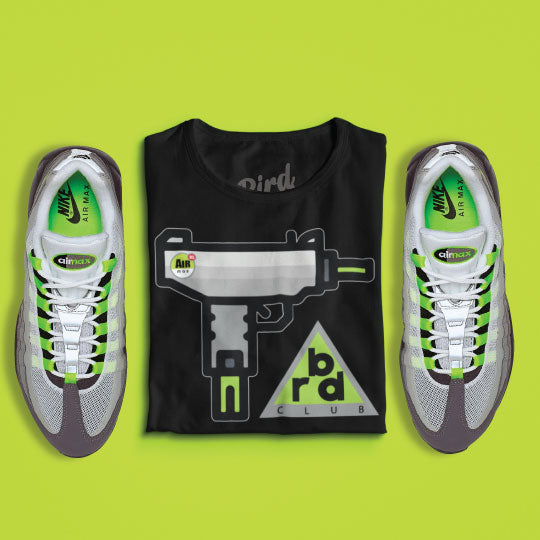 Matching Air Max 95 neon shirts