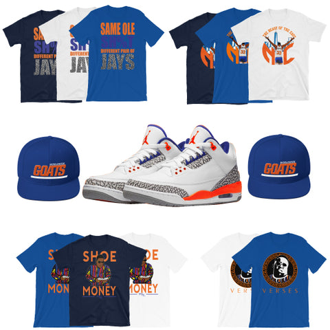 detailing dce59 8369d Retro 3 Knicks Collection
