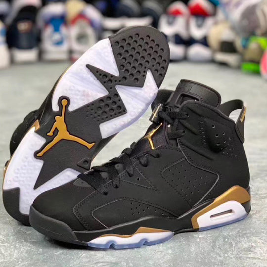Retro 6 sneaker tees to match Black and Gold DMP sneakers