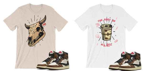 Travis scott Jordan 1 matching shirts