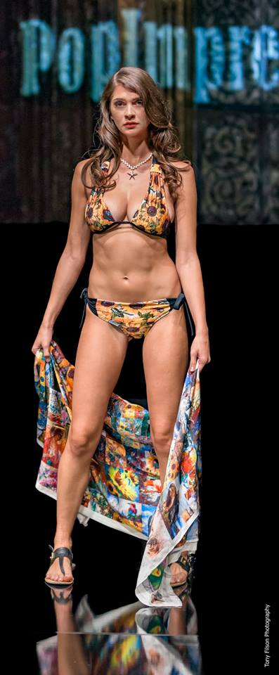 "Art Couture Swimwear ""Sunflower Girl"" - two pieces"