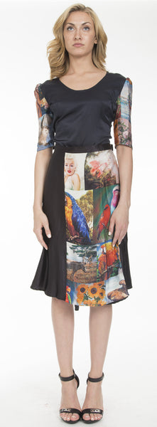 Print Wrap-Around Skirt