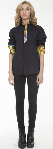 Slashed Placket Button-Down - SOLD, To order new $2,000