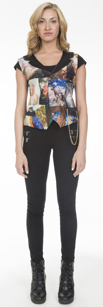 """Rock and Roll"" Print Waistcoat"